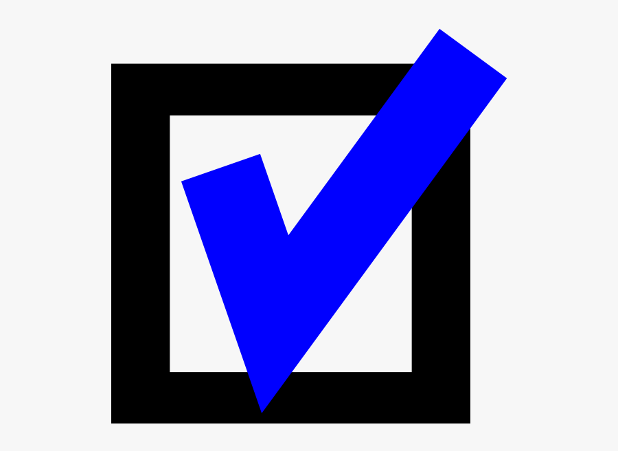 Blue Checkmark With Box Svg Clip Arts - Box With A Blue Check Mark, Transparent Clipart