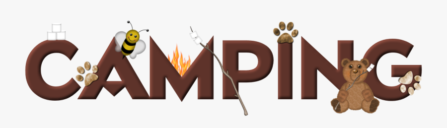 Art Free On Dumielauxepices - Camping Word Art Transparent, Transparent Clipart