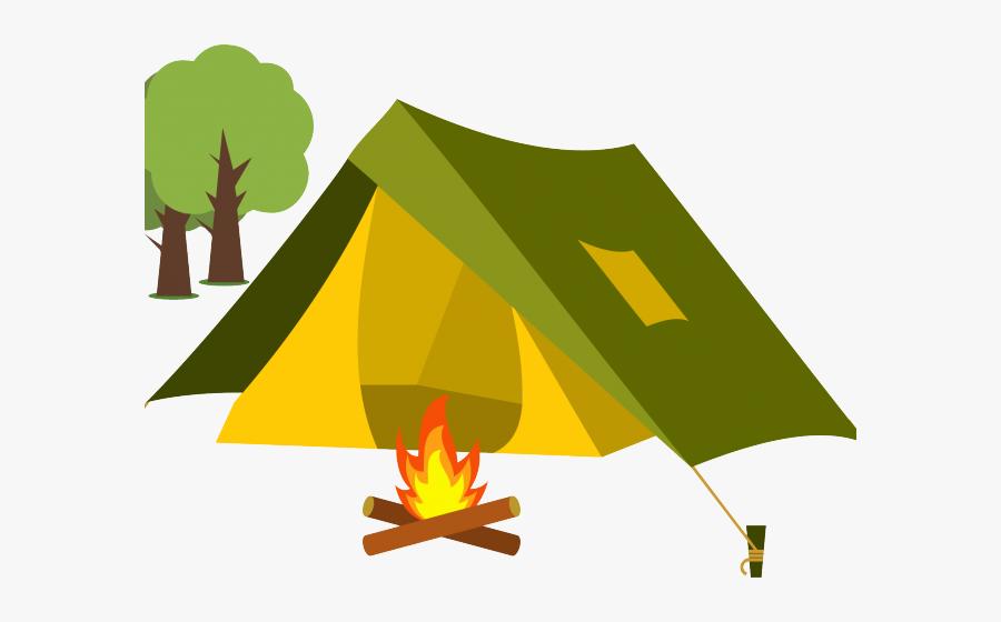 Transparent Fire Clipart - Cartoon Transparent Background Tent, Transparent Clipart
