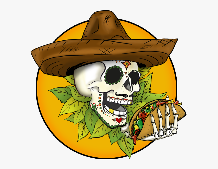 Transparent Day Of The Dead Clipart - Taco Food Truck Logo, Transparent Clipart