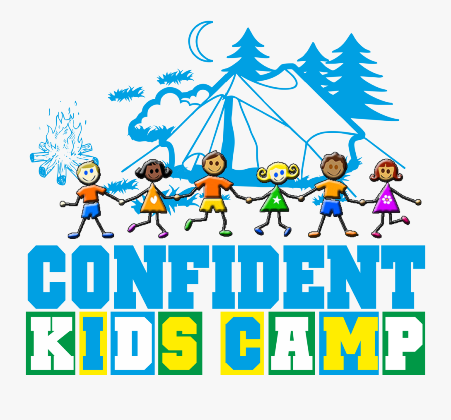 About Confident Kids Camp - Black And White Camp Clip Art, Transparent Clipart