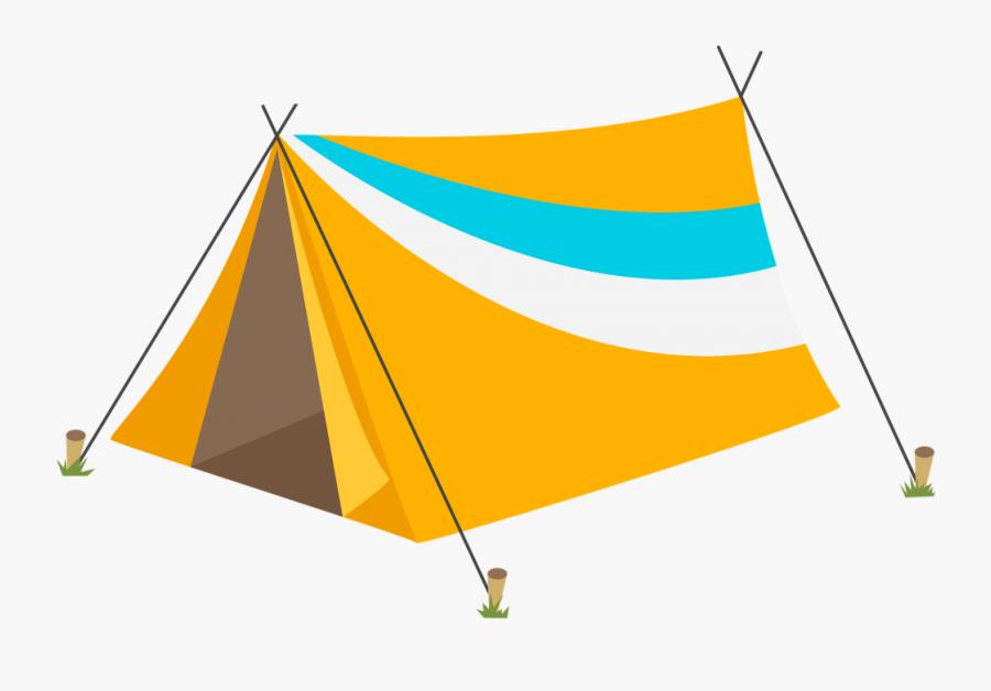 Camping Tent Campsite Clip Art - Tent Clipart, Transparent Clipart