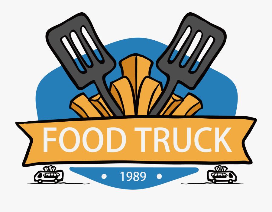 Fast Food Taco Hamburger Logo - Cartoon Food Truck Logo, Transparent Clipart