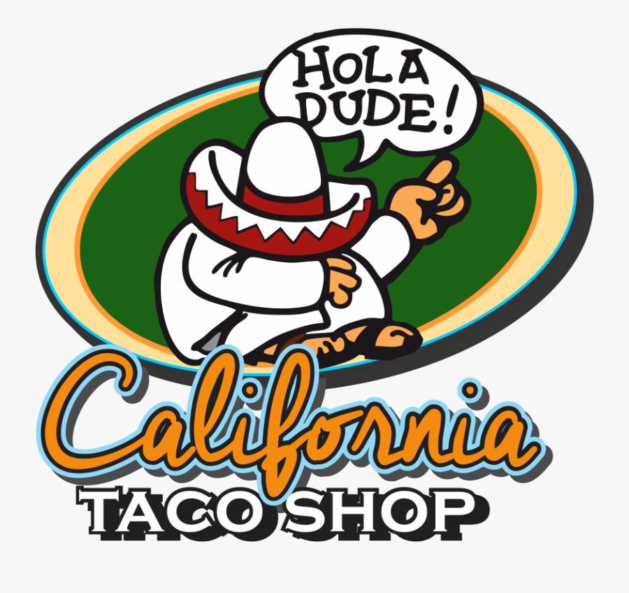Fish Tacos Clipart - California Taco Shop Logo, Transparent Clipart