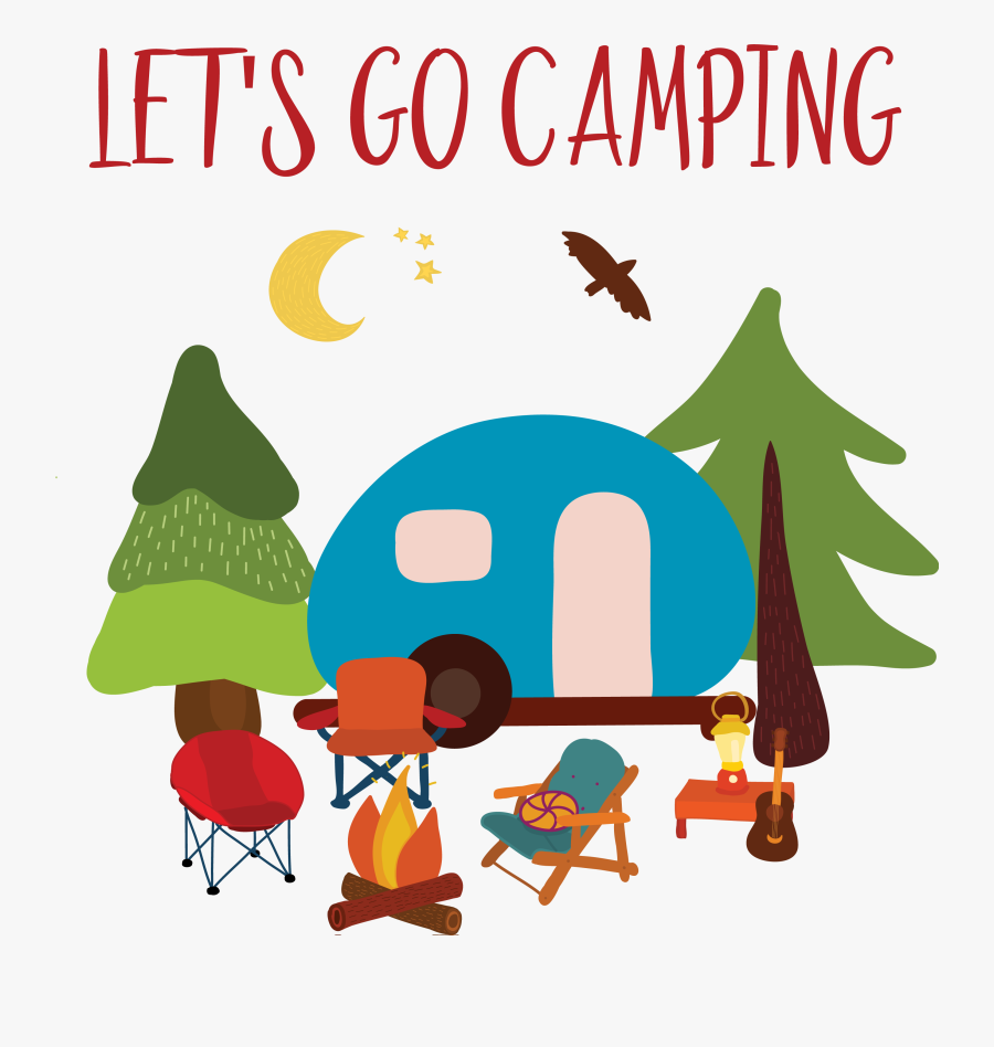 Let's Go Camping Clipart, Transparent Clipart