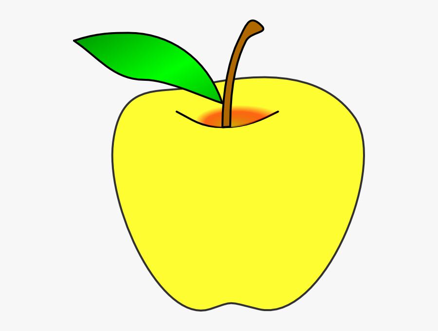 Yellow Apple Clip Art - Clip Art Yellow Apples, Transparent Clipart