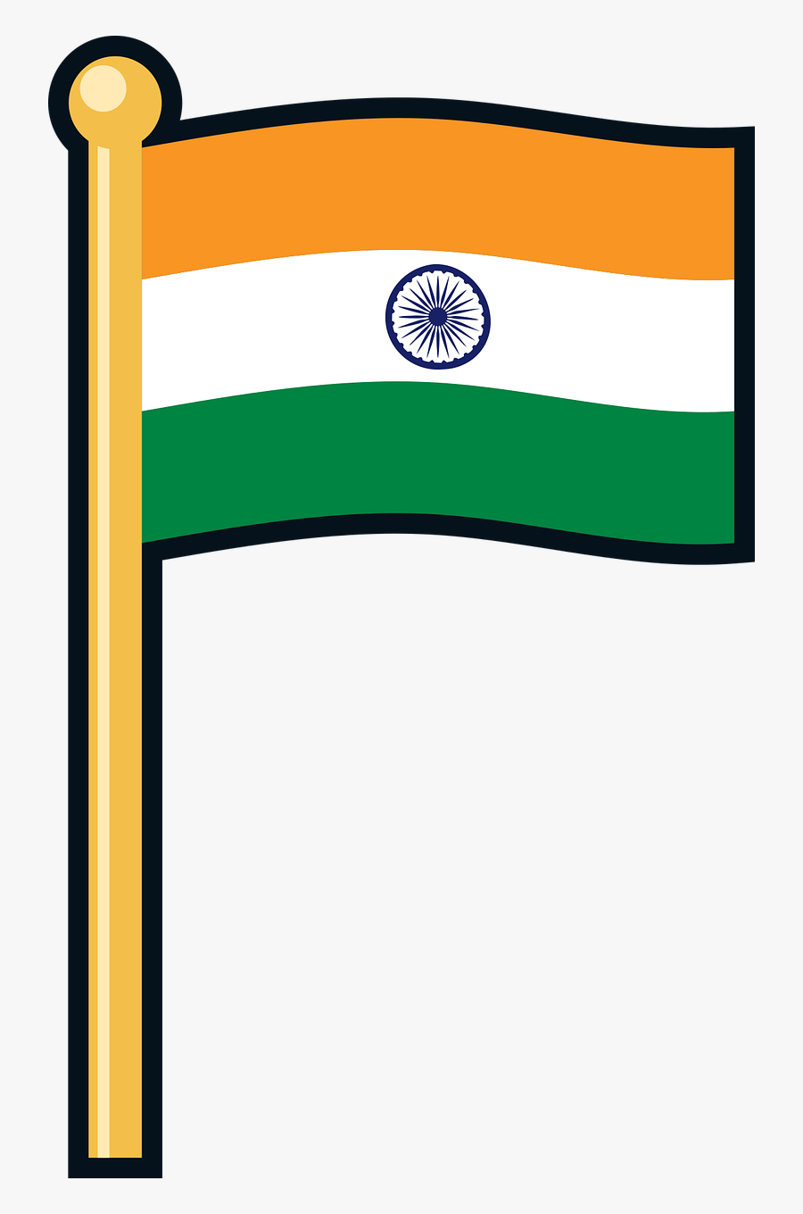 Transparent Indian Feathers Clipart - National Flag Of India Clipart, Transparent Clipart