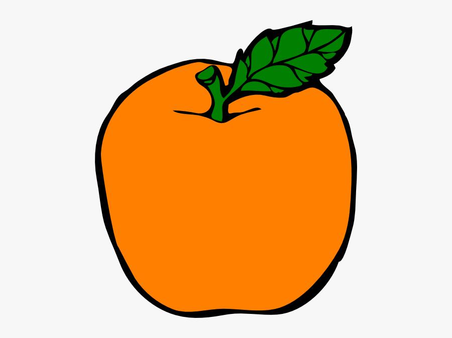 Orange Apple Clip Art At Clker - Apple Clip Art, Transparent Clipart
