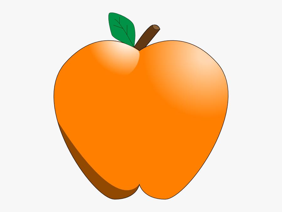 Clip Art At Clker Com Vector Online - Apple Orange Clip Art, Transparent Clipart