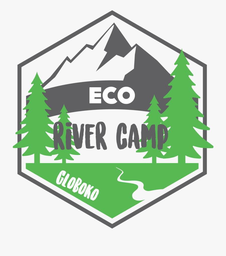 Eco River Camp Globoko - Camping River Logo, Transparent Clipart