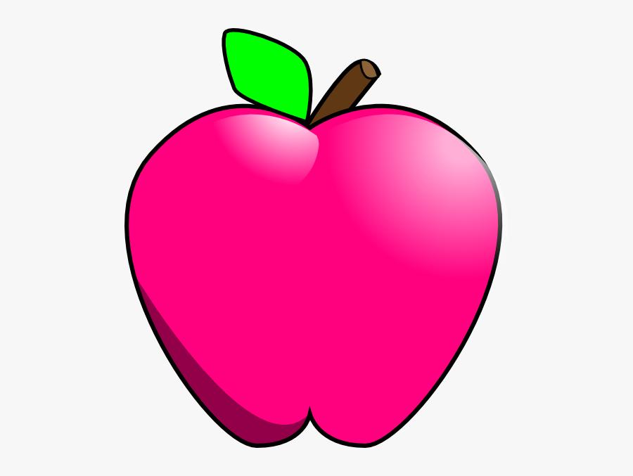Transparent Apple Cartoon Png - Apple Pink Clip Art, Transparent Clipart