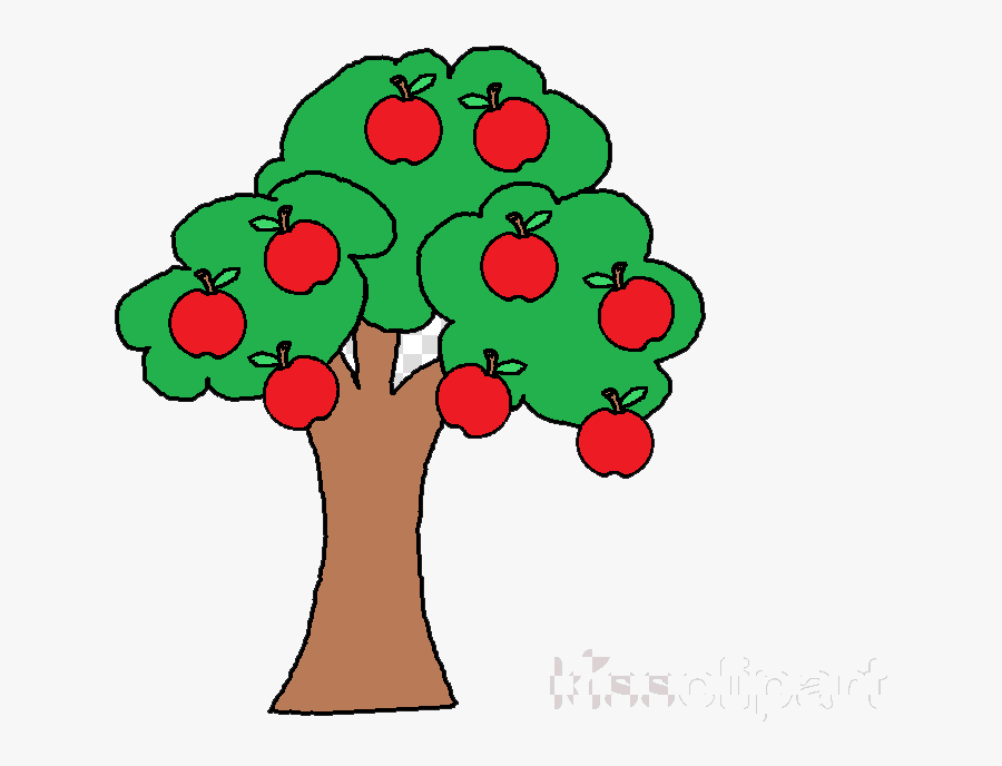 Apple Tree Flower Transparent Image Clipart Free Png - Apples On A Tree Clipart, Transparent Clipart