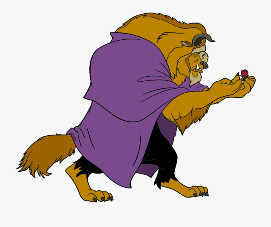 Free Png Download Beauty And The Beast Holding Rose - Beauty And The Beast Beast Clipart, Transparent Clipart