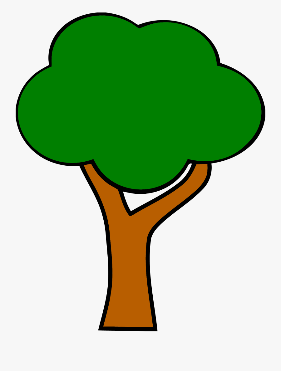 Cartoon Tree With Branches 28, Buy Clip Art - Apple Tree Without Apple, Transparent Clipart