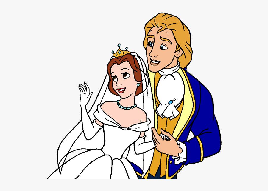 Wedding Dress Clipart Belle - Belle Disney Princess Wedding, Transparent Clipart