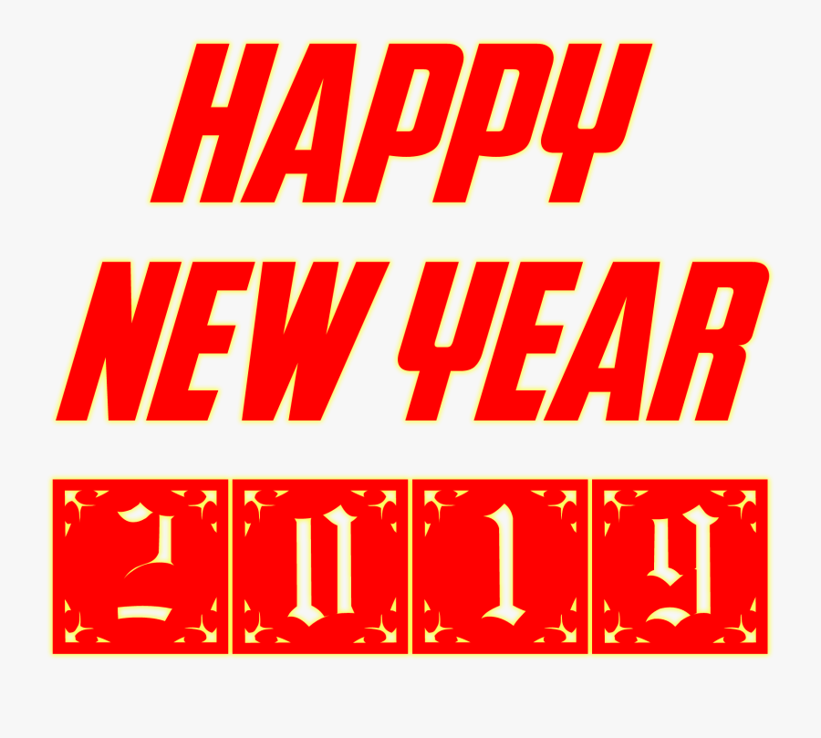 Happy New Year 2019 Stickers, Transparent Clipart