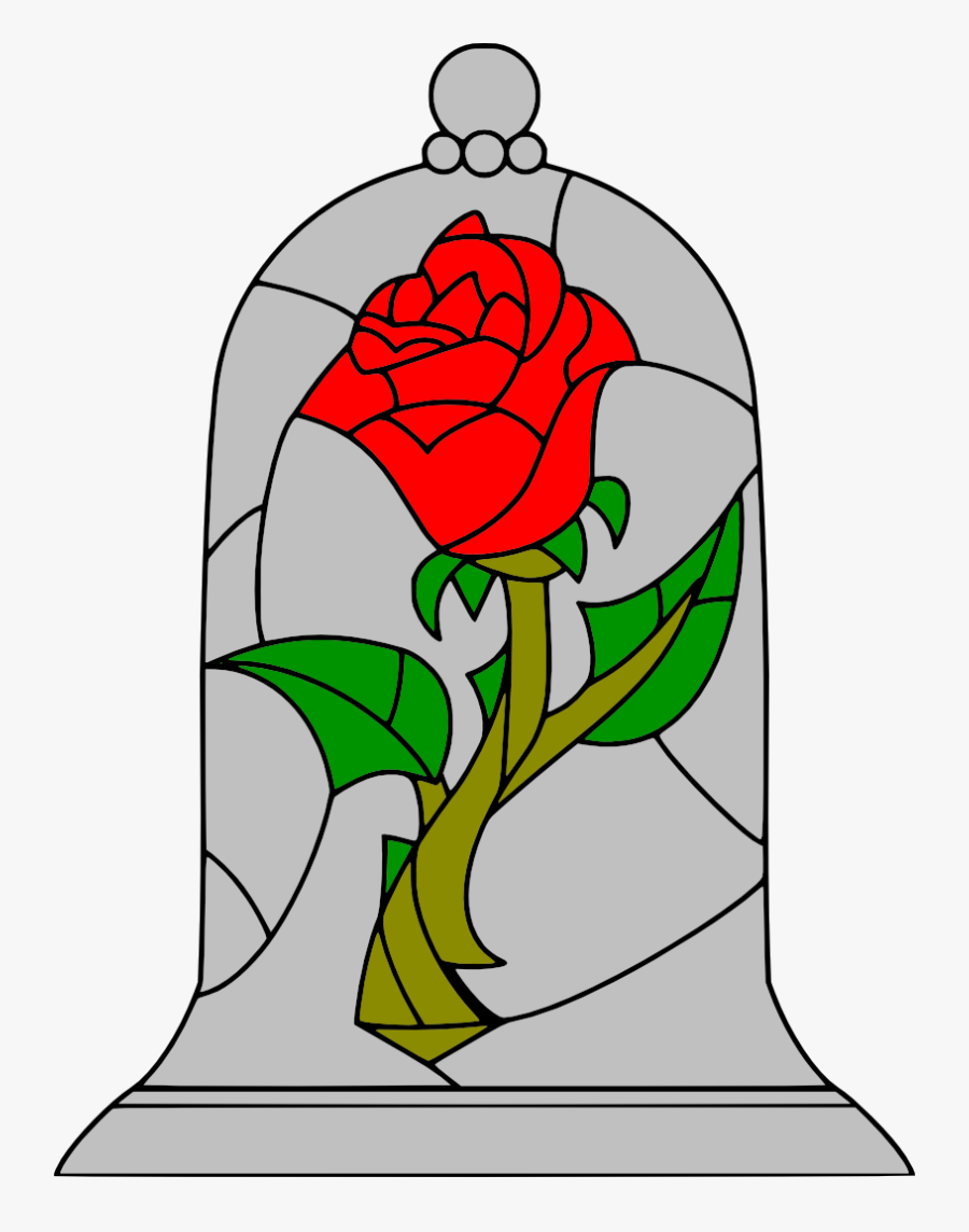 Movies Personal Use Beauty And The Beast Rose Enchanted Rose Beauty And The Beast Stained Glass Free Transparent Clipart Clipartkey