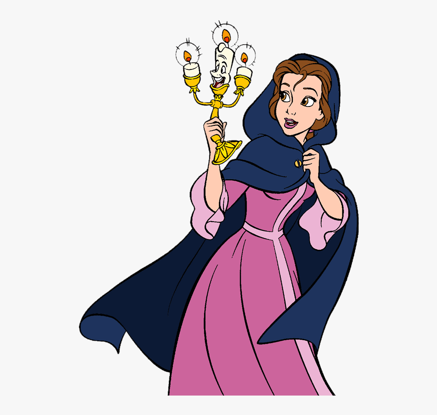 Belle And Lumiere Disney Clipart, Princess Belle, Beauty - Disney Belle And Lumiere, Transparent Clipart