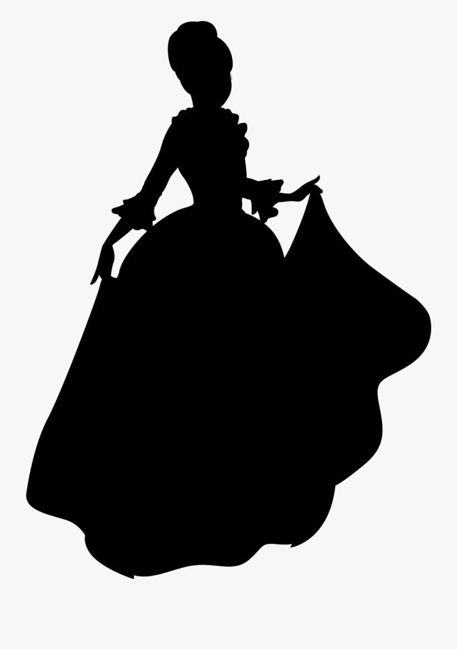 Belle Beast Clip Art Silhouette Image - Belle Disney Princess Silhouette, Transparent Clipart