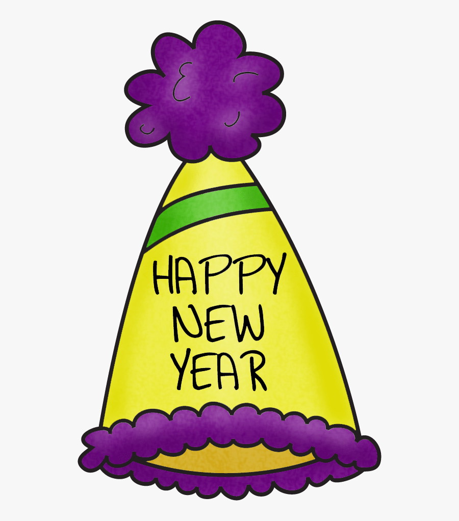 Year End Party New Year Clip Art - Happy New Year Hat Clipart, Transparent Clipart