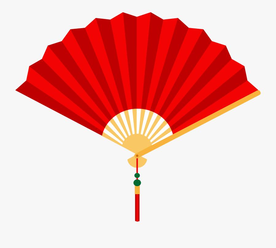 Chinese Fan Clipart - Fan Clipart, Transparent Clipart