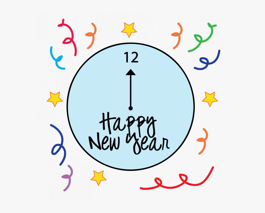 Happy New Year Coloring Pages - New Years Eve Clip Art Black And White, Transparent Clipart
