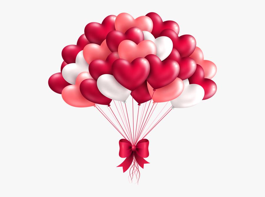 Heart Balloons Clip Art, Transparent Clipart