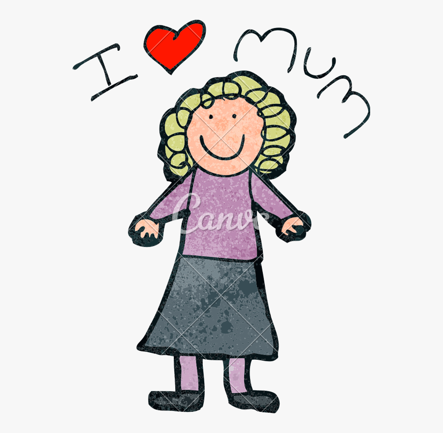 "Mother""s Day Drawing - Mothers Day Drawings, Transparent Clipart"