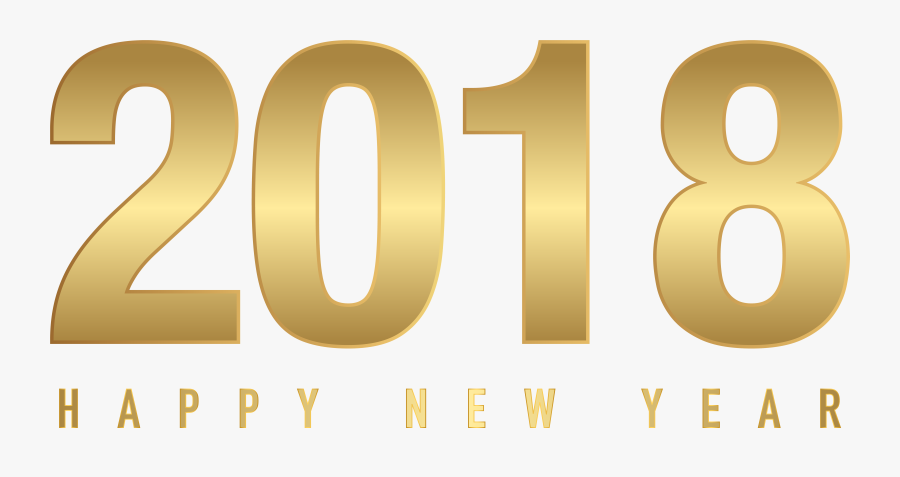 Free Clipart For New Year - 2018 Happy New Year Gold Png, Transparent Clipart