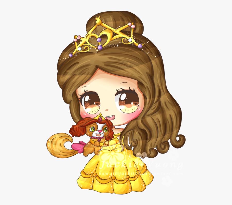 Transparent Princess Belle Png - Beauty And The Beast Kawaii, Transparent Clipart