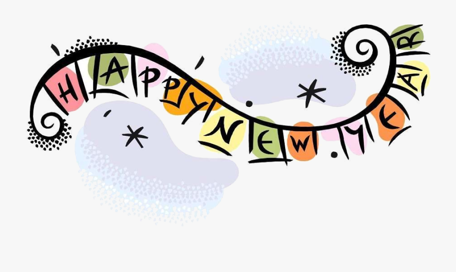 Happy New Year Clipart Sign X Transparent Png - Welcome Back Happy New Year, Transparent Clipart