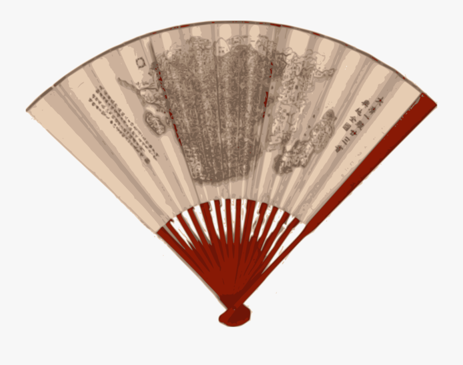 Asian Fan With A Map - Fan Asia, Transparent Clipart