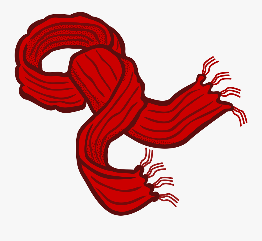 Clipart - Red Scarf Clipart, Transparent Clipart