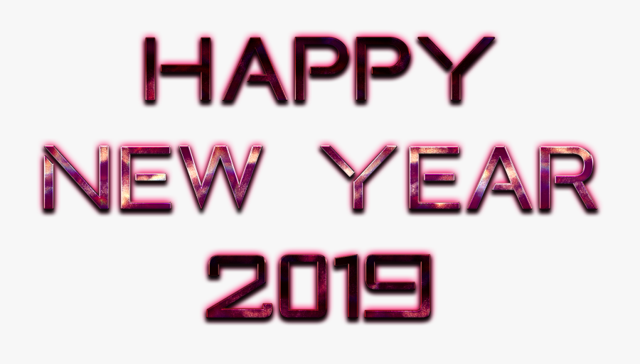 Transparent New Years Resolution Clipart - Happy New Year 2019 Transparent, Transparent Clipart