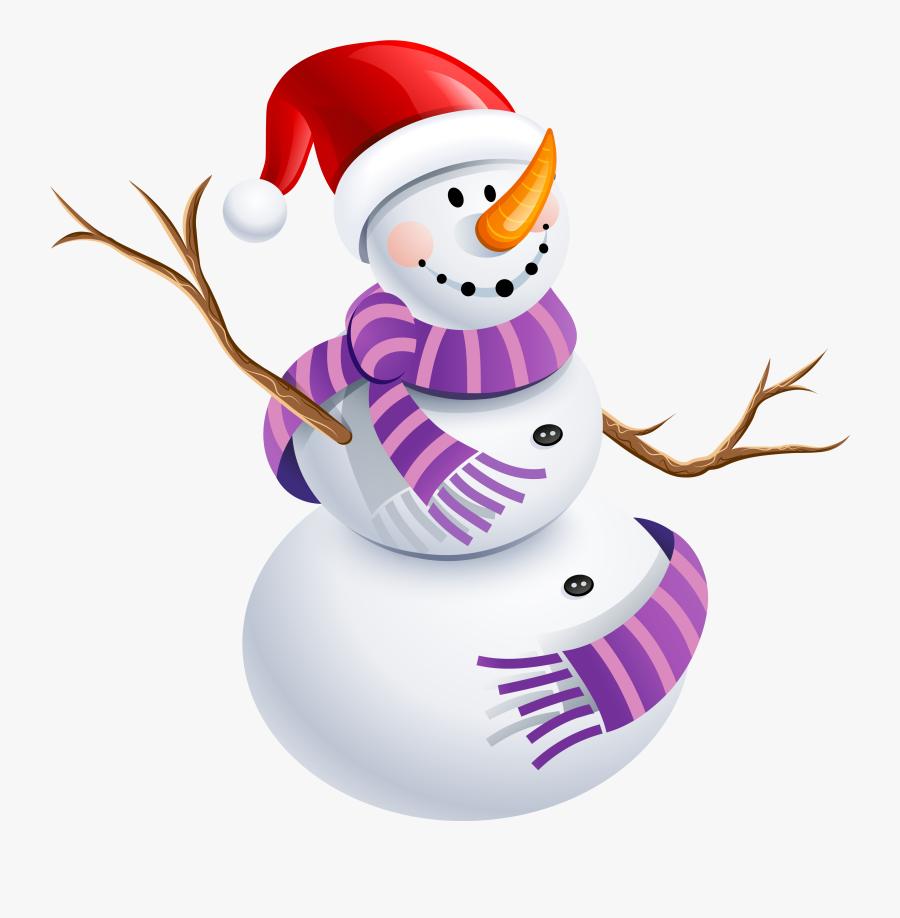 Snowman Scarf Clipart - Snowman Png, Transparent Clipart
