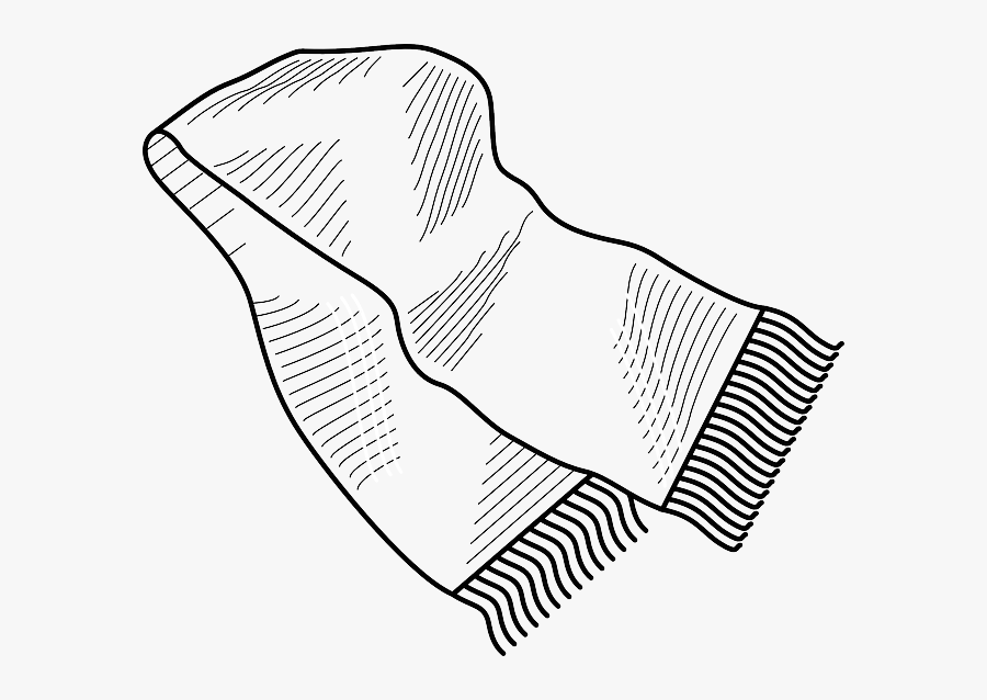 Shawl - Clipart - Coloring Pages Scarf, Transparent Clipart