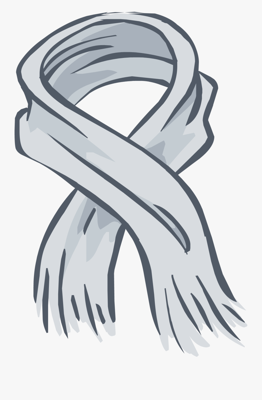 Heather Grey Scarf Png Image, Transparent Clipart
