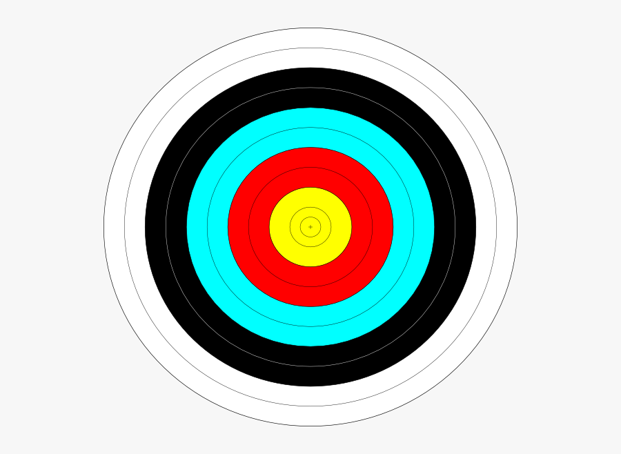 Printable Full Size Archery Target, Transparent Clipart