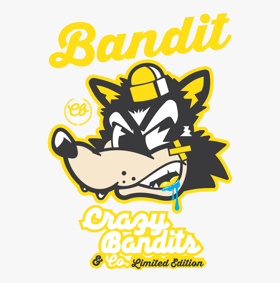 Bandit Vector Scarf Clipart Royalty Free - Crazy Bandit, Transparent Clipart