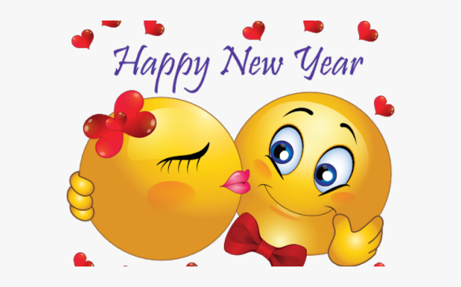 Transparent Happy New Year Clipart Png - Emoji New Years, Transparent Clipart