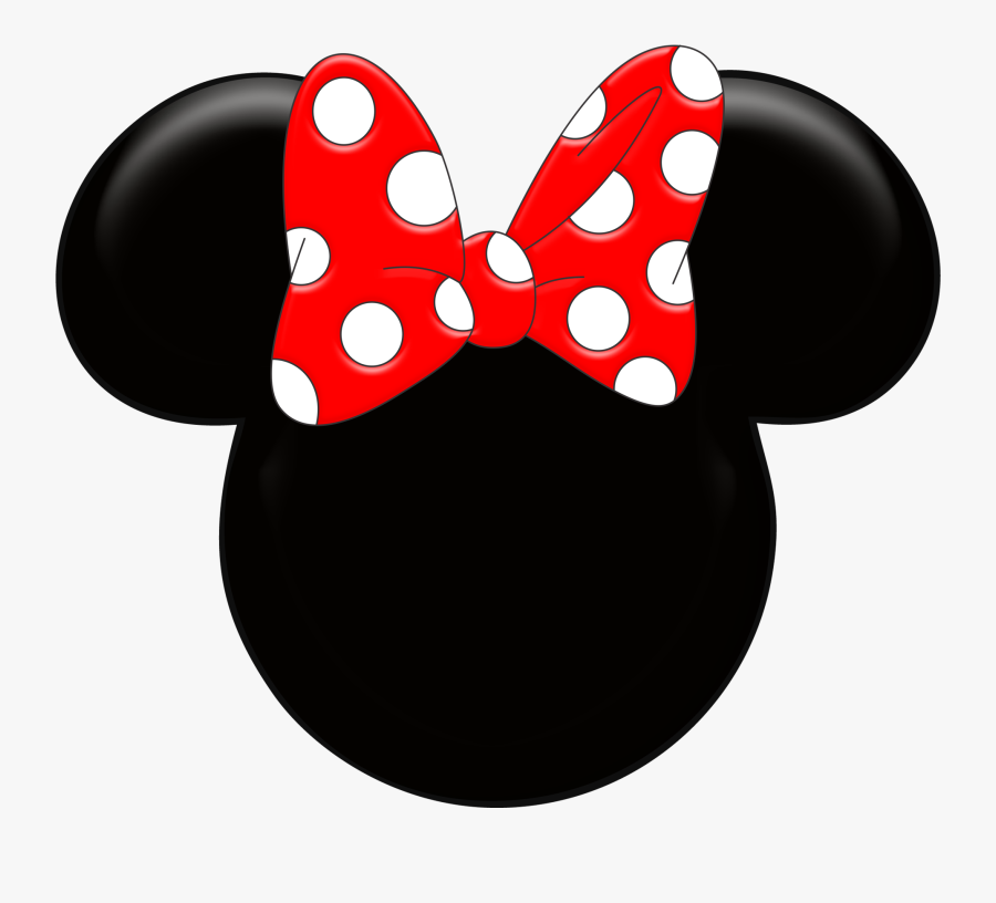 Red Minnie Mouse Wallpaper Ki - Red Minnie Mouse Head, Transparent Clipart