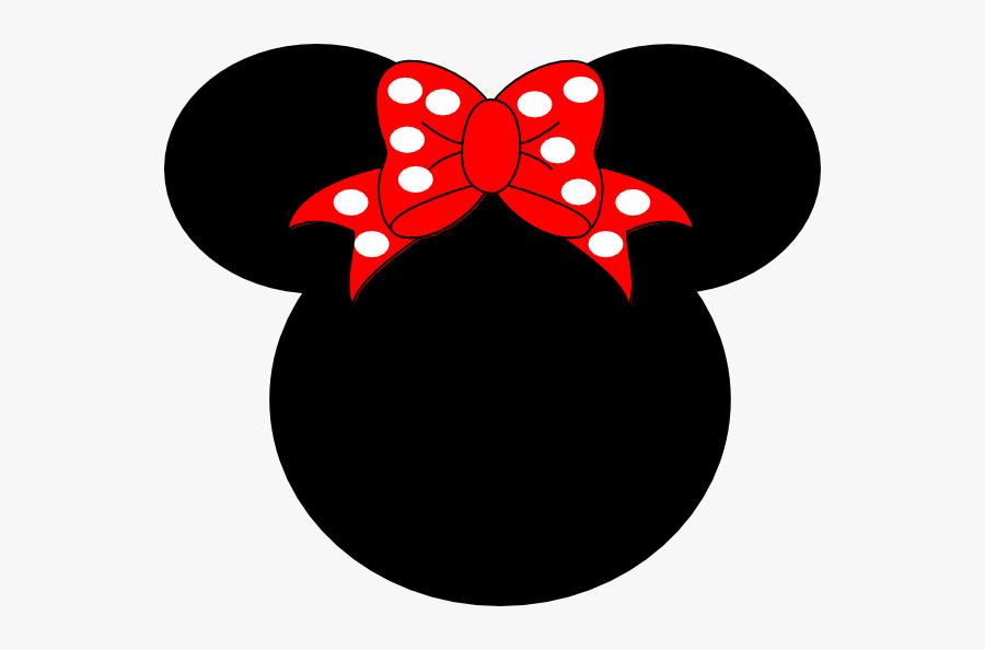 Black Minnie Mouse Head, Transparent Clipart