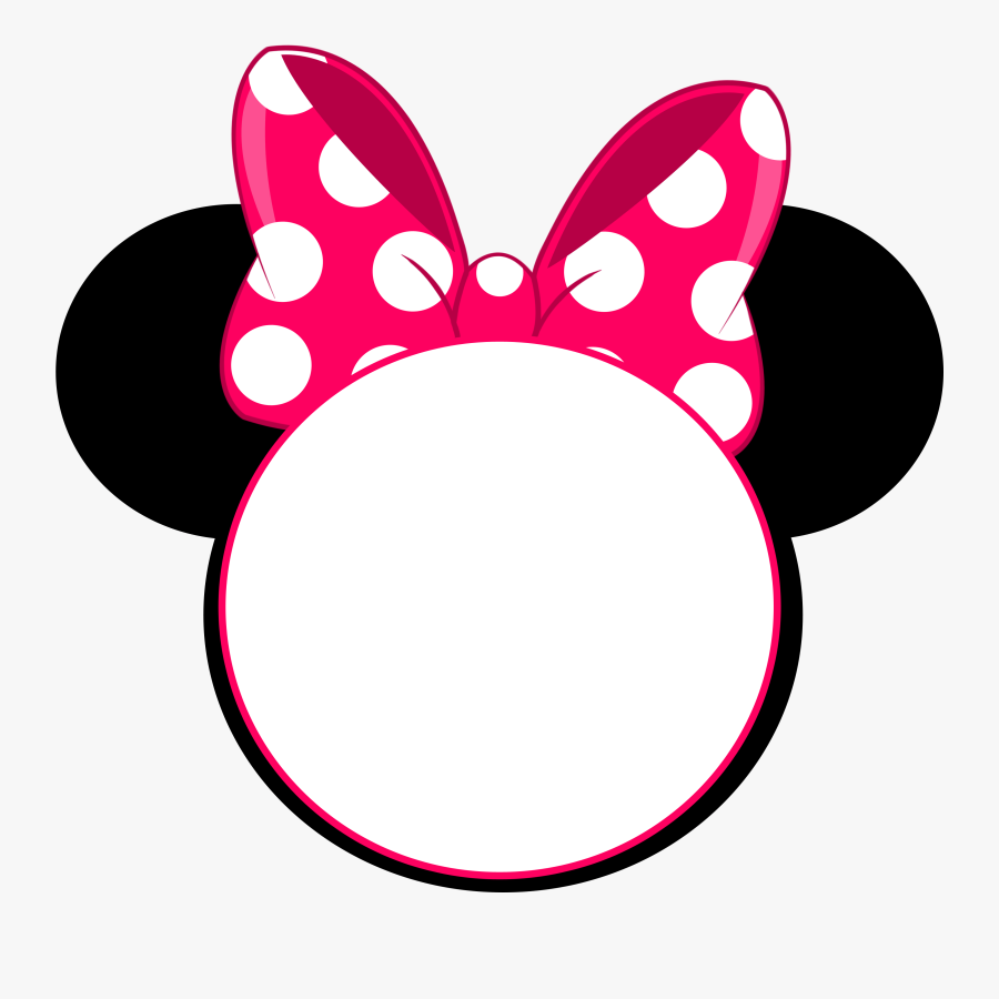 Clip Art Minnie Ears Clipart - Minnie Mouse Head Png, Transparent Clipart