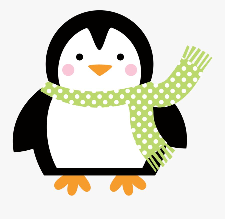 Transparent Scarf Clipart Png - Christmas Penguin, Transparent Clipart