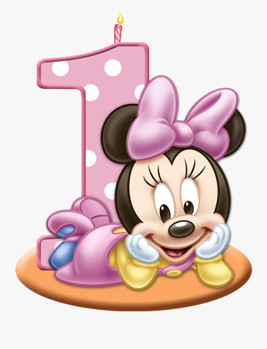 Mickey Minnie Baby Birthday Cake Mouse Clipart - Minnie Baby Png, Transparent Clipart
