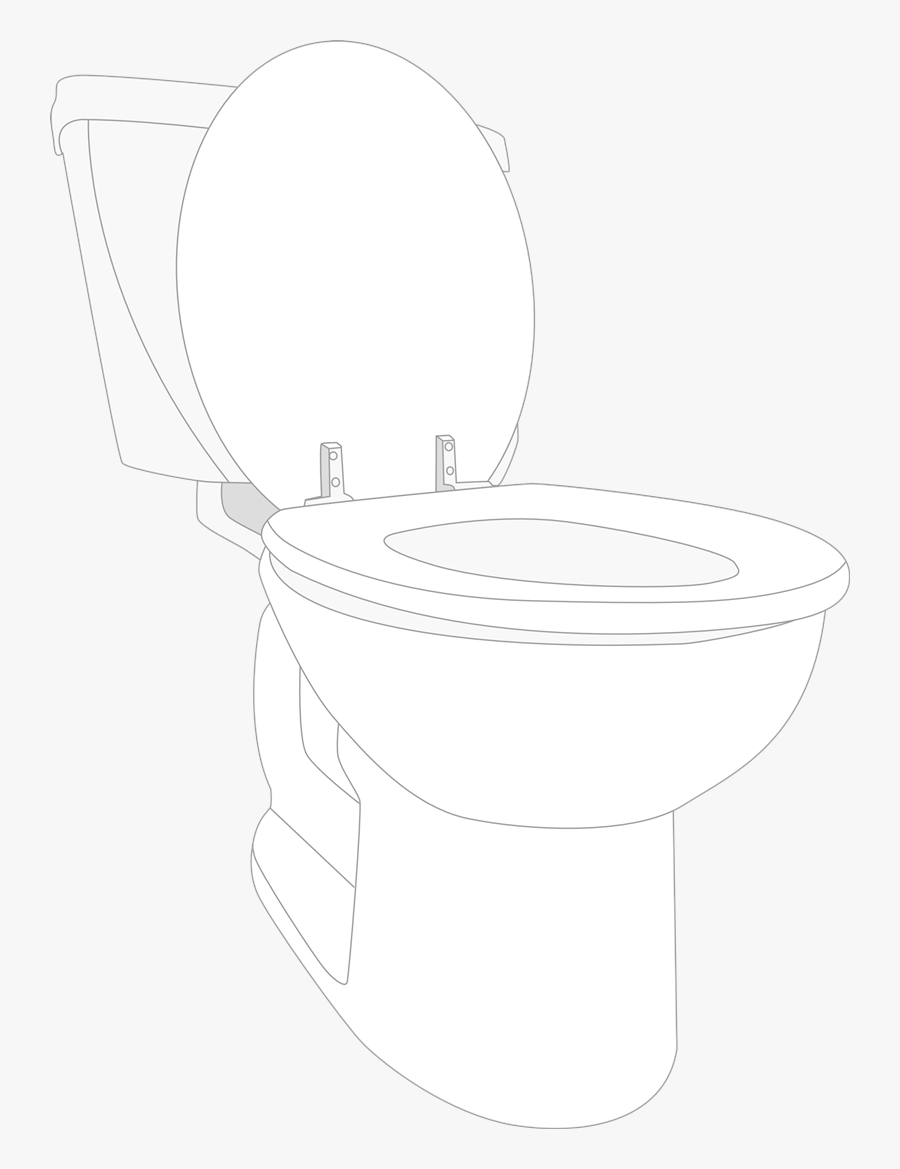 Toilet Free To Use Clip Art - Toilet Bowl Clipart No Background, Transparent Clipart