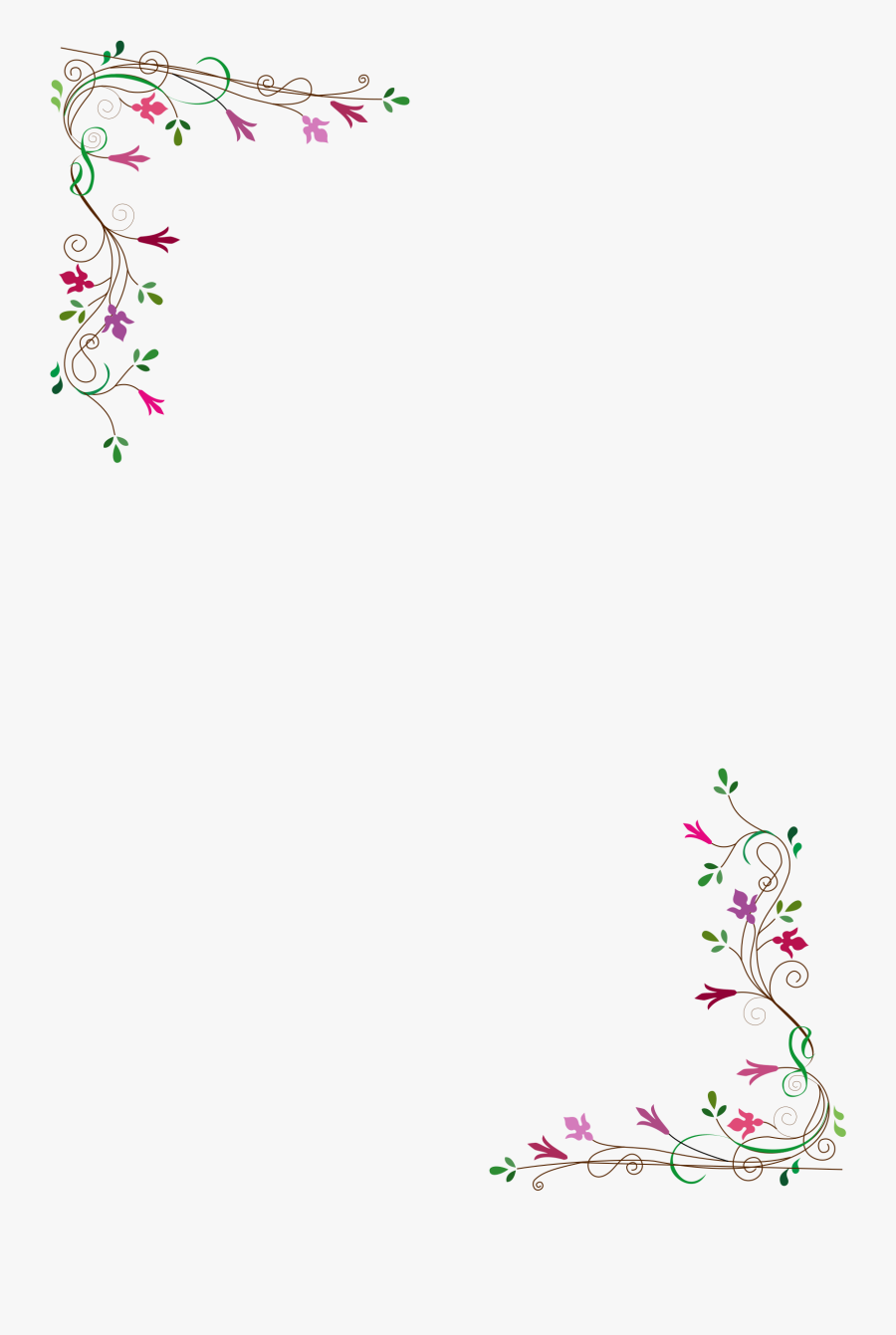 Vintage Flower Frame Vector Png - Vector Border Flower Frame, Transparent Clipart
