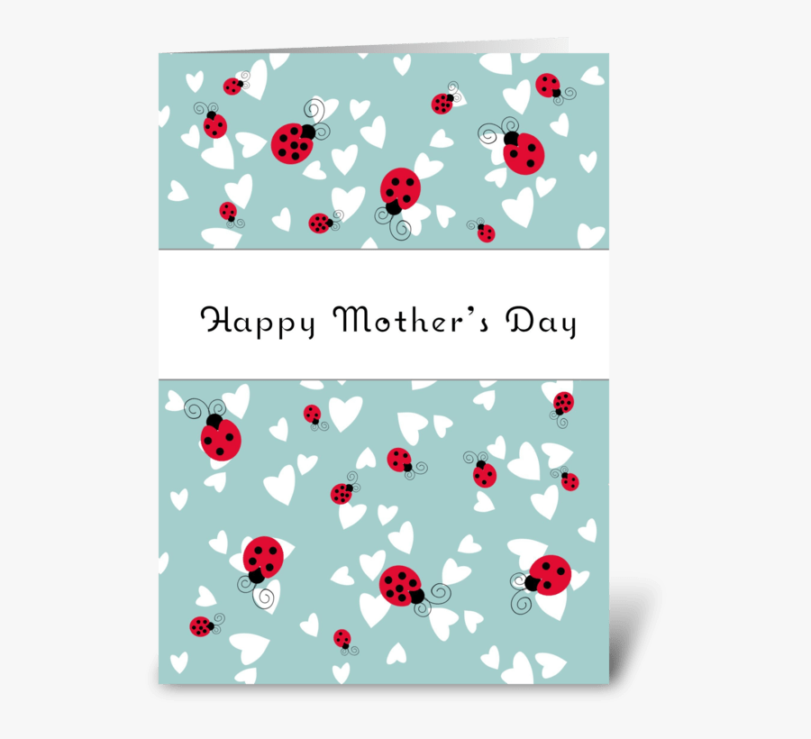 """Happy Mother""""s Day Ladybugs Greeting Card - Happy Mothers Day Ladybug, Transparent Clipart"""