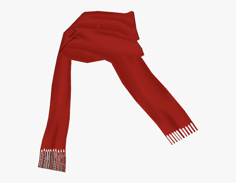 Scarf Clipart Transparent Background - Red Scarf Transparent, Transparent Clipart
