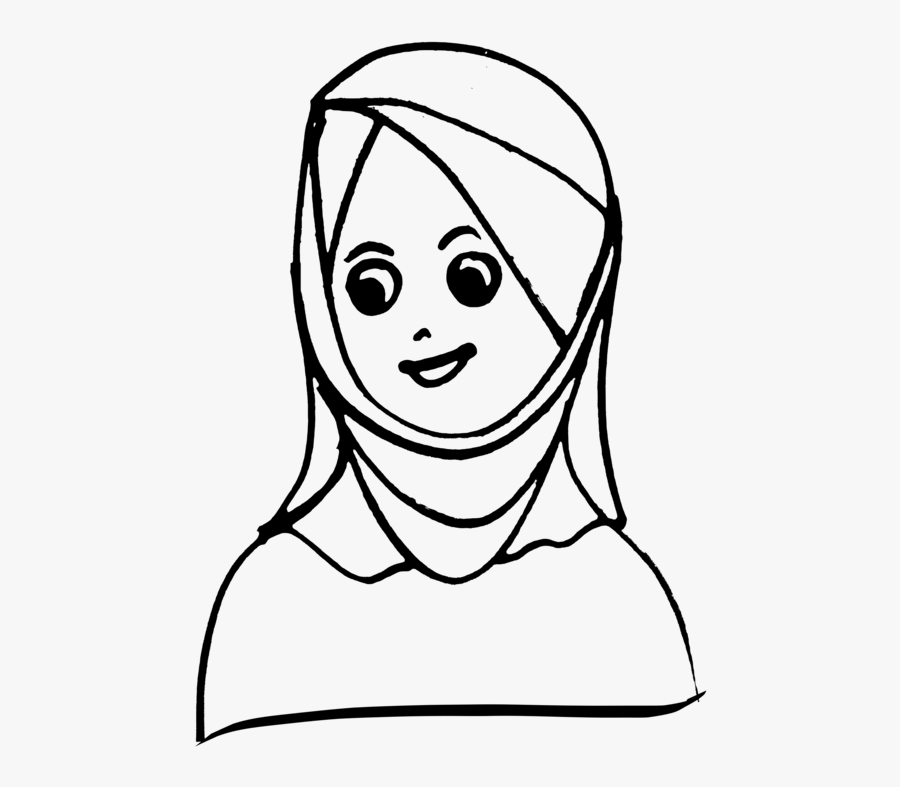 Emotion,art,monochrome Photography - Head Scarf Clipart Black And White, Transparent Clipart